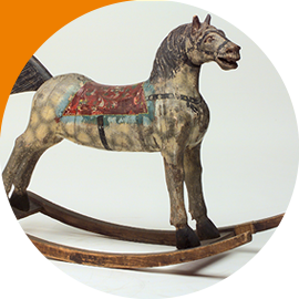 Cavallo A Dondolo Con Ruote.I Cavalli Giocattolo Museo Del Cavallo Giocattolo